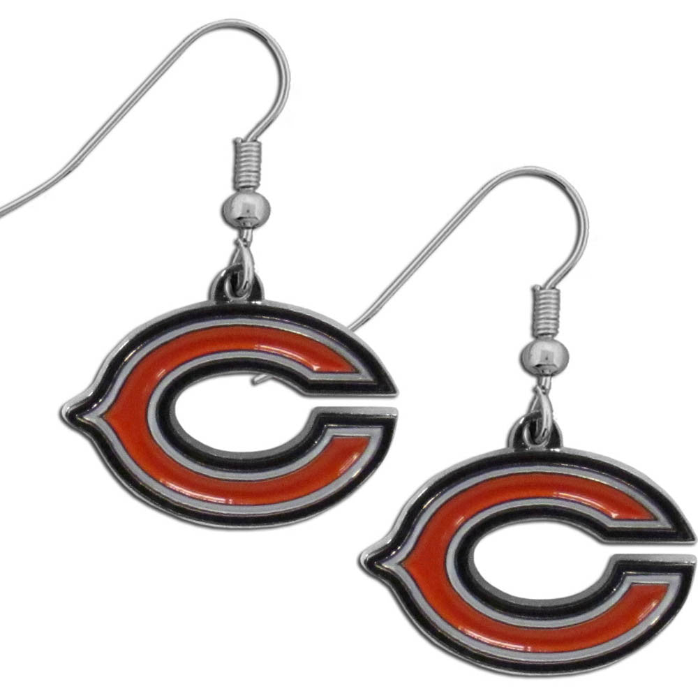 Chicago Bears Chrome Dangle Earrings - FDE005N