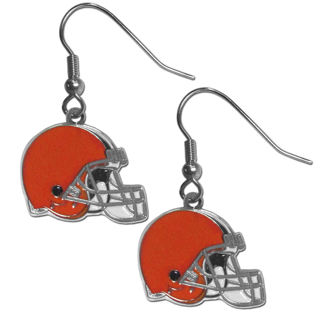 Cleveland Browns Chrome Dangle Earrings