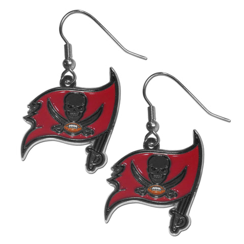 Tampa Bay Buccaneers Chrome Dangle Earrings