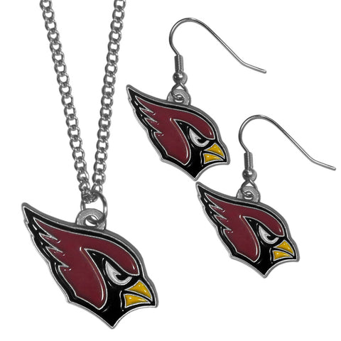 Arizona Cardinals Dangle Earrings and Chain Necklace Set
