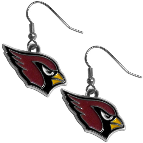 Arizona Cardinals Chrome Dangle Earrings