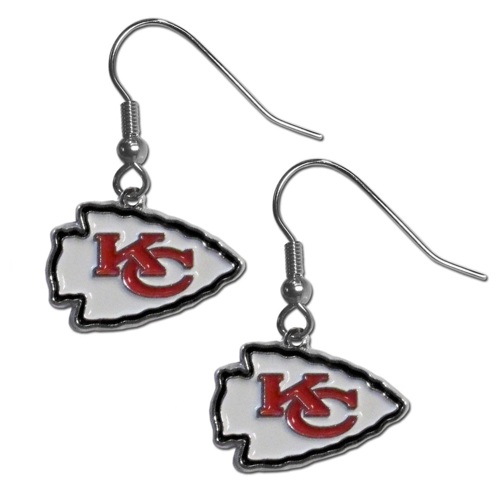 Kansas City Chiefs Chrome Dangle Earrings - FDE045N