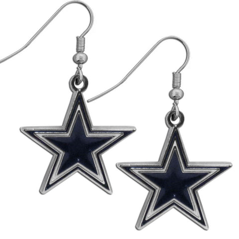 Dallas Cowboys Chrome Dangle Earrings