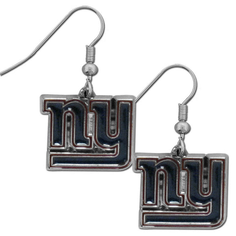 New York Giants Chrome Dangle Earrings