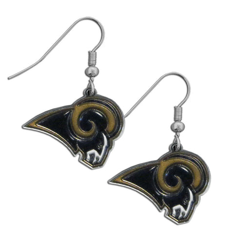 St. Louis Rams Chrome Dangle Earrings
