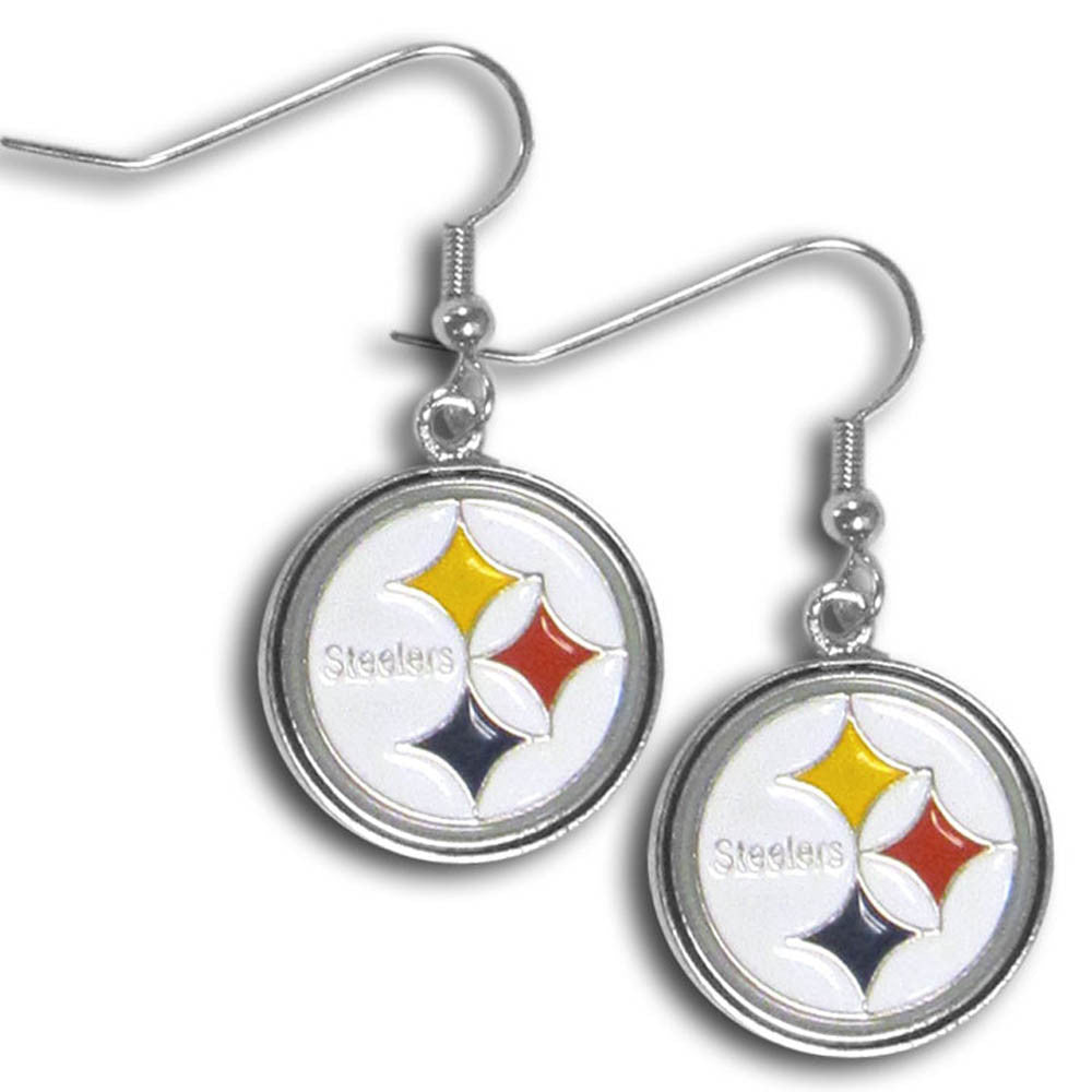 Pittsburgh Steelers Chrome Dangle Earrings - FDE160N