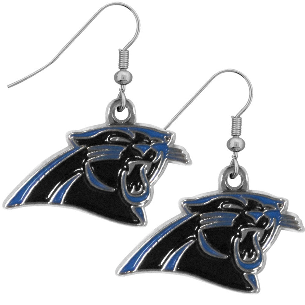 Carolina Panthers Chrome Dangle Earrings