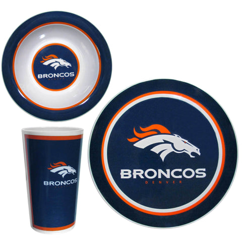 Denver Broncos 12 pc Melamine Dish Set