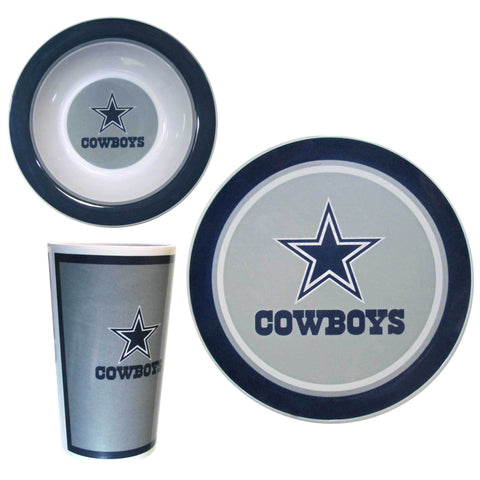 Dallas Cowboys 12 pc Melamine Dish Set