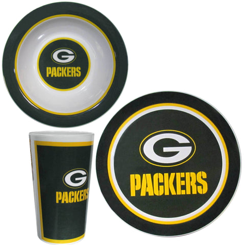 Green Bay Packers 12 pc Melamine Dish Set