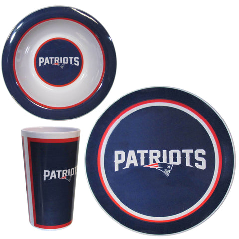 New England Patriots 12 pc Melamine Dish Set