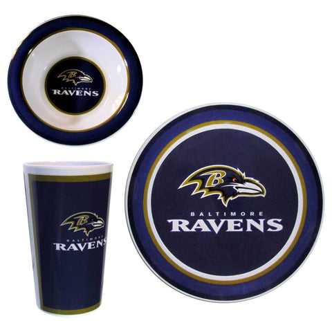 Baltimore Ravens 12 pc Melamine Dish Set