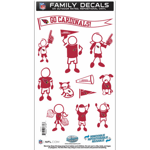 Arizona Cardinals Family Decal Set Medium