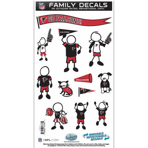 Atlanta Falcons Family Decal Set Medium