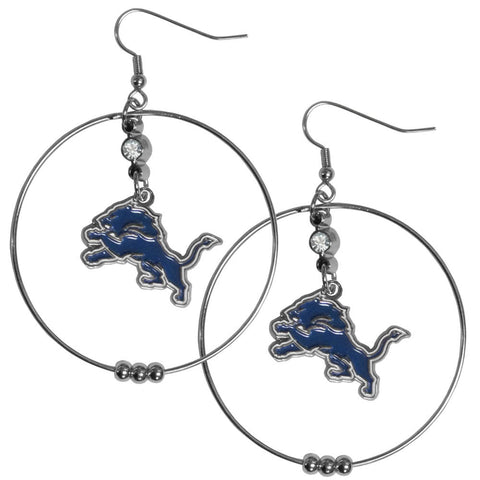Detroit Lions 2 Inch Hoop Earrings