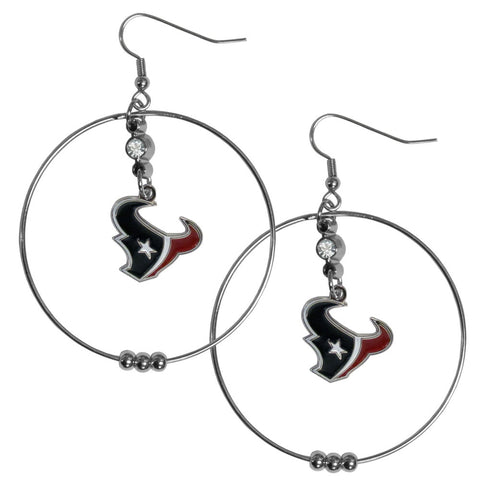 Houston Texans 2 Inch Hoop Earrings
