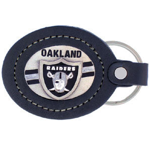 Leather Keychain - Oakland Raiders