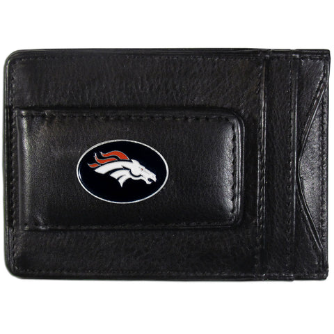 Denver Broncos Leather Cash & Cardholder