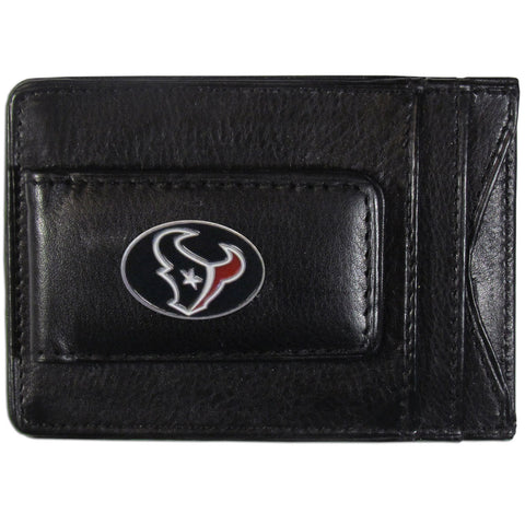 Houston Texans Leather Cash & Cardholder
