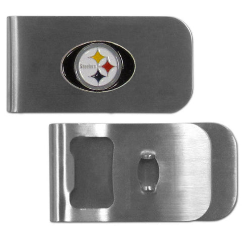 Pittsburgh Steelers Bottle Opener Money Clip