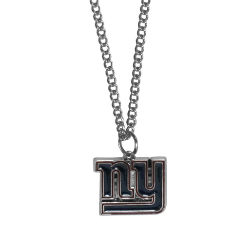 New York Giants Chain Necklace with Small Charm