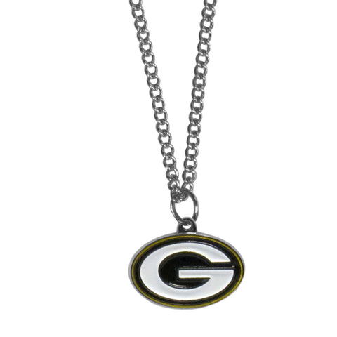 Green Bay Packers Chain Necklace with Small Charm