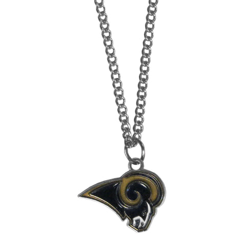 St. Louis Rams Chain Necklace with Small Charm