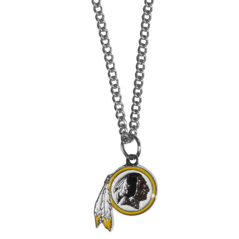 Washington Redskins Chain Necklace with Small Charm