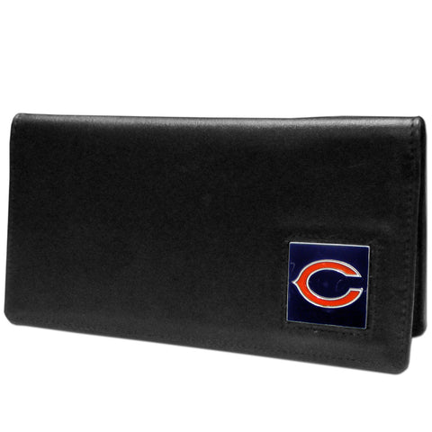 Chicago Bears Leather Checkbook Cover