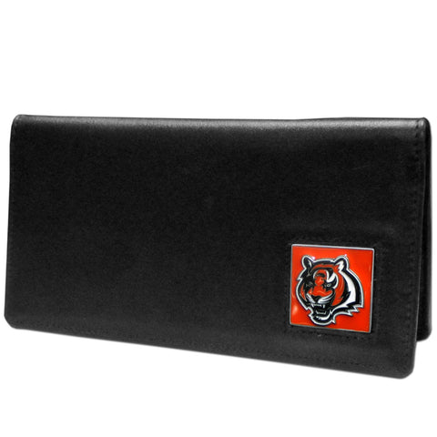 Cincinnati Bengals Leather Checkbook Cover