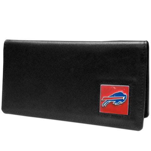 Buffalo Bills Leather Checkbook Cover Packaged in Gift Box