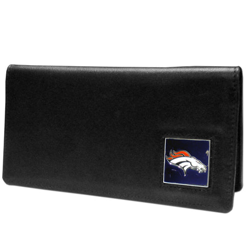 Denver Broncos Leather Checkbook Cover