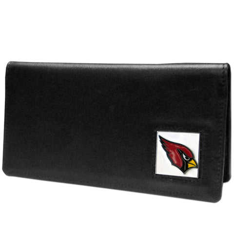 Arizona Cardinals Leather Checkbook Cover Packaged in Gift Box