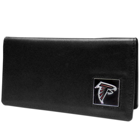 Atlanta Falcons Leather Checkbook Cover Packaged in Gift Box