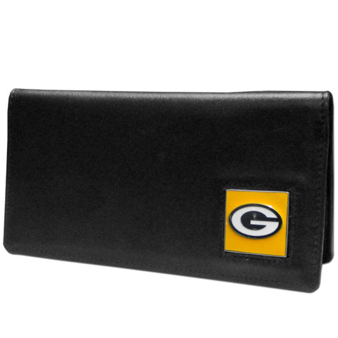Green Bay Packers Leather Checkbook Cover
