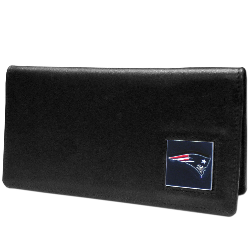 New England Patriots Leather Checkbook Cover