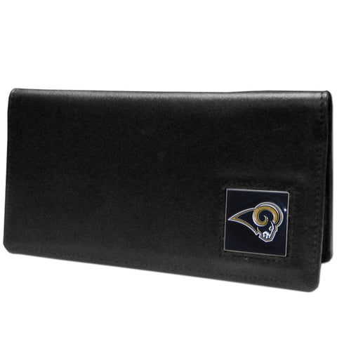 St. Louis Rams Leather Checkbook Cover