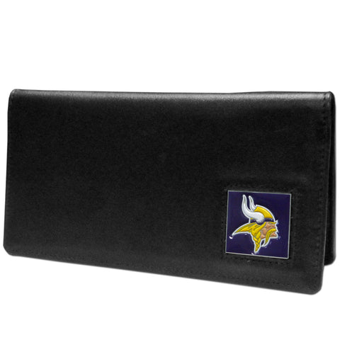 Minnesota Vikings Leather Checkbook Cover