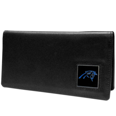 Carolina Panthers Leather Checkbook Cover