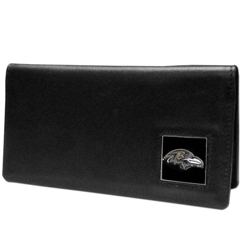 Baltimore Ravens Leather Checkbook Cover Packaged in Gift Box