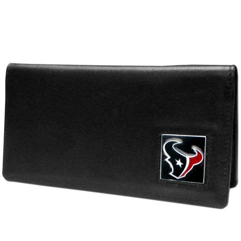 Houston Texans Leather Checkbook Cover
