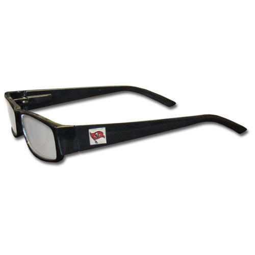 Tampa Bay Buccaneers Black Reading Glasses +1.75