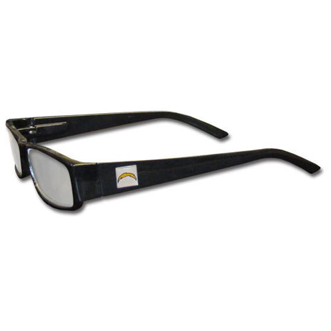 San Diego Chargers Black Reading Glasses +2.00