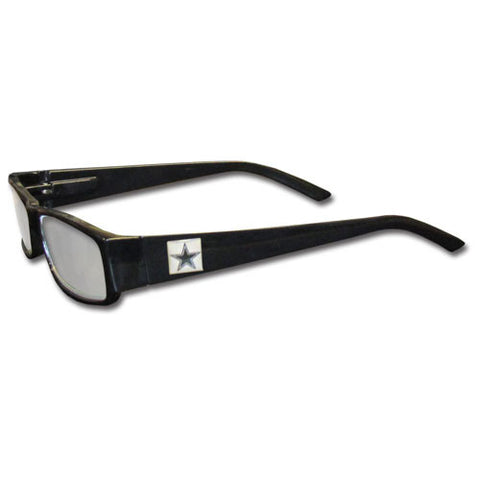 Dallas Cowboys Black Reading Glasses +2.00