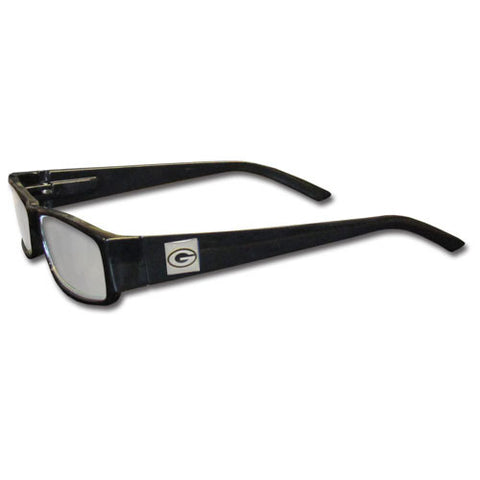 Green Bay Packers Black Reading Glasses +2.00