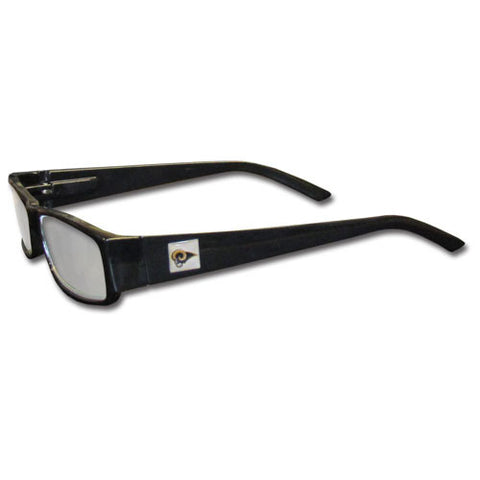 St. Louis Rams Black Reading Glasses +2.25