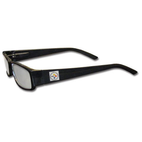 Pittsburgh Steelers Black Reading Glasses +2.00