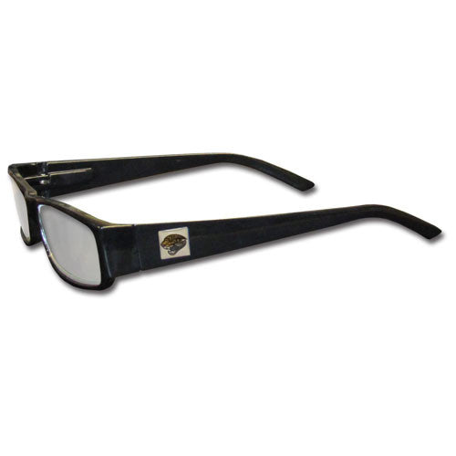 Jacksonville Jaguars Black Reading Glasses +2.50