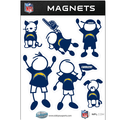 San Diego Chargers Family Magnet Set