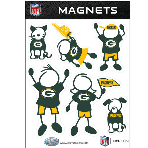 Green Bay Packers Family Magnet Set